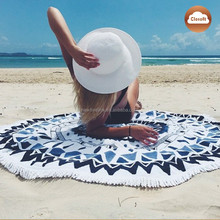 New fashion style printing beach round towels