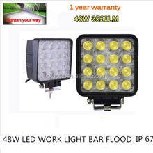 48W off Road Square LED Work light food Beam Jeep SUV VTE Tractor Boat Truck SK-WL-A8
