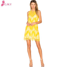 casual summer women primrose yellow lace overlay my choice dresses