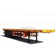 3 axles 20/40 foot flatbed container semi-trailer fifth wheel equipment 50 ton flatbed trailer