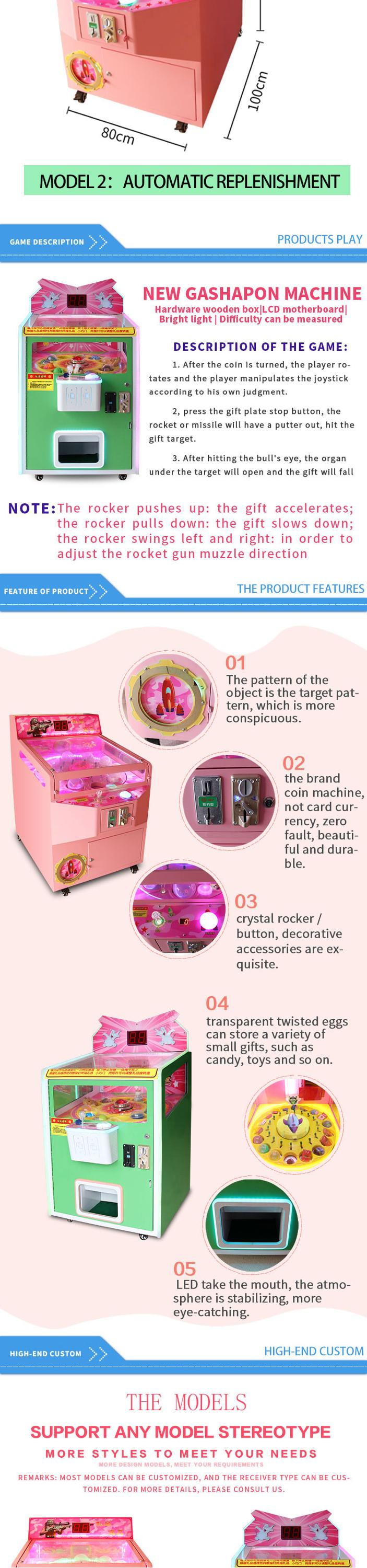 New arrival kids toys capsule vending machine gashapon machines for sale