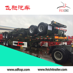 truck semitrailer factory tri-axles 40ft skeleton container truck semi trailer for sale