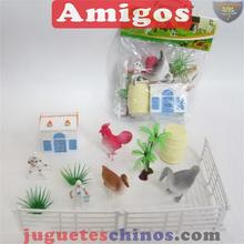 toy selling Animalnset chickens ducks geese 13 pcs simulational animal for kids