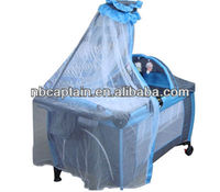 baby playpen with mosquito net canopy