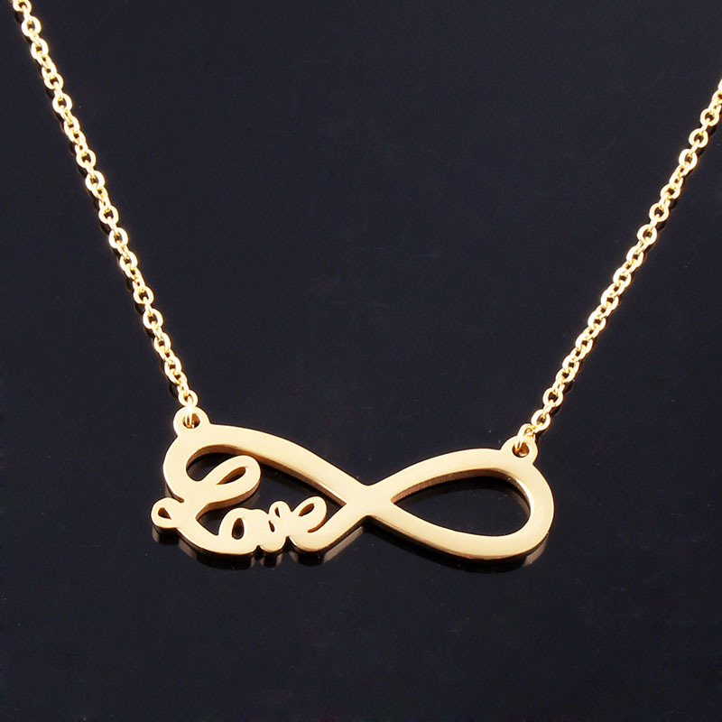8 Shape Infinity Necklace Women Fashion Stainless Steel Jewelry Love Symbol for Mom Her Gifts