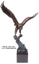 BLN-1436 brass craft decorative Eagle figurines small brass animals