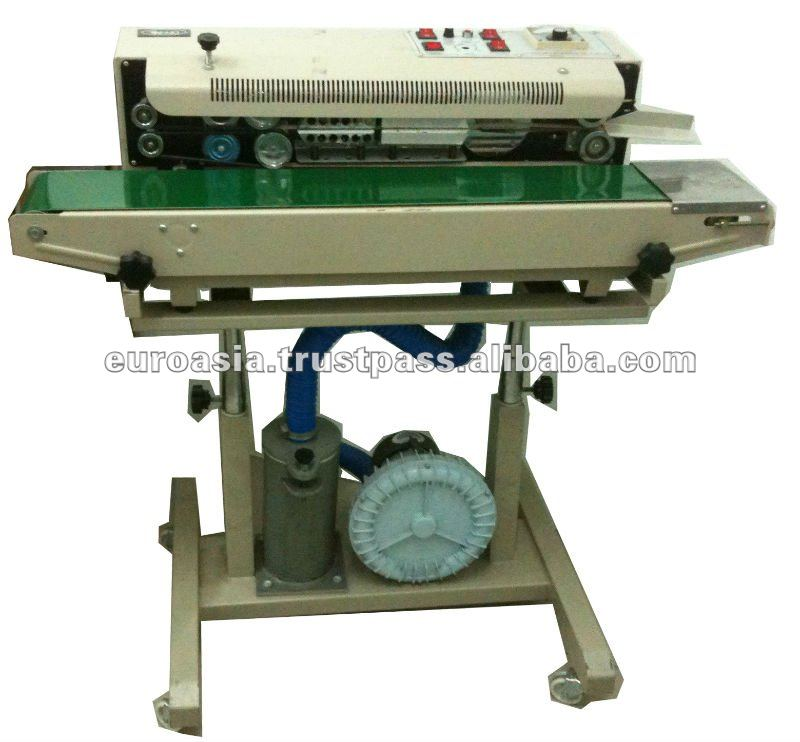 SEALING MACHINE - HORIZONTAL CONTINUOUS SEALER WITH AIR PUMP