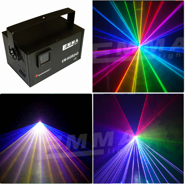 RGB Full Color Animation Laser Light 2W Stage DMX512 Disco DJ