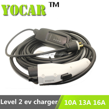 ev charging level 2 16A portable EVSE duosida sae j1772