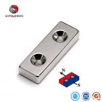 N45 Block Magnet Neodymium with Countersink hole