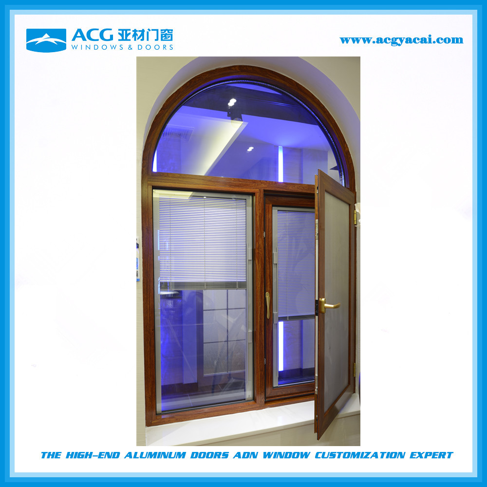 List manufacturers of aluminum curved glass arched windows for Best wood window brands