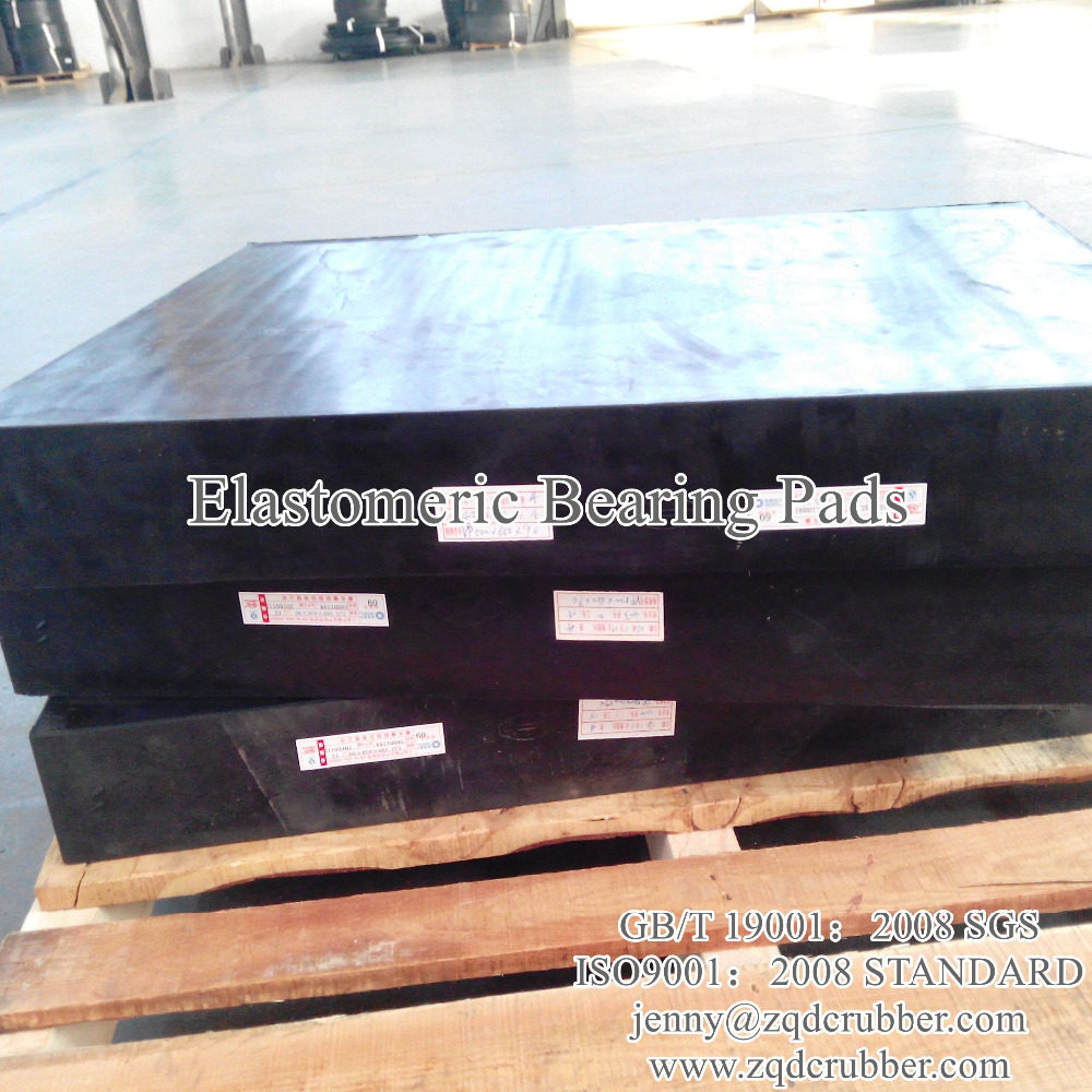 Laminated elastomeric bridge bearing pads sold to Pakistan