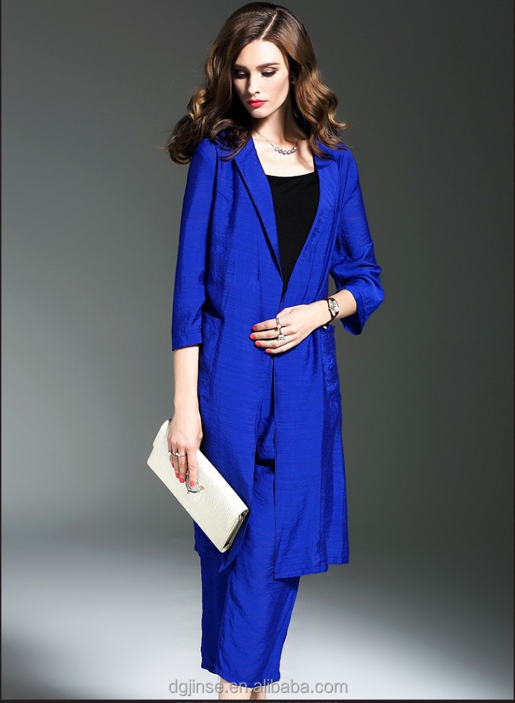The spring autumn fashion dress tide two-piece jackt wide-legged pants elegant leisure suit for women