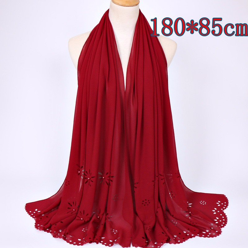 Hot selling coloured pearl bubble chiffon laser cut shawls printe plain <strong>scarf</strong> popular wrap muslim hijab <strong>scarves</strong>/pashmina