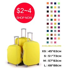 Customized pure spandex travel luggage protector suitcase cover