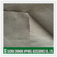 Double sided fusible buckram interlining for garment