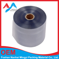 china heat shrink factory plastic tube soft pvc film , bulk plastic wrap