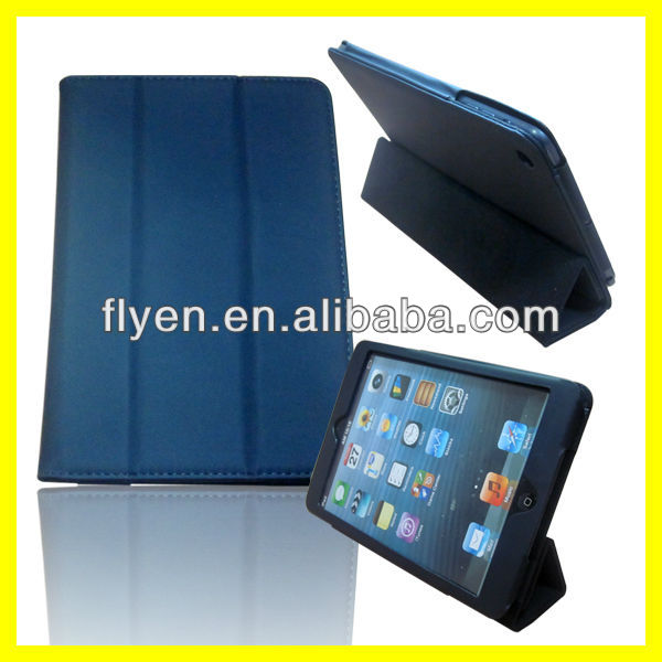 Luxury Leather Stand Slim trifold smart case cover for Apple New ipad mini1/2