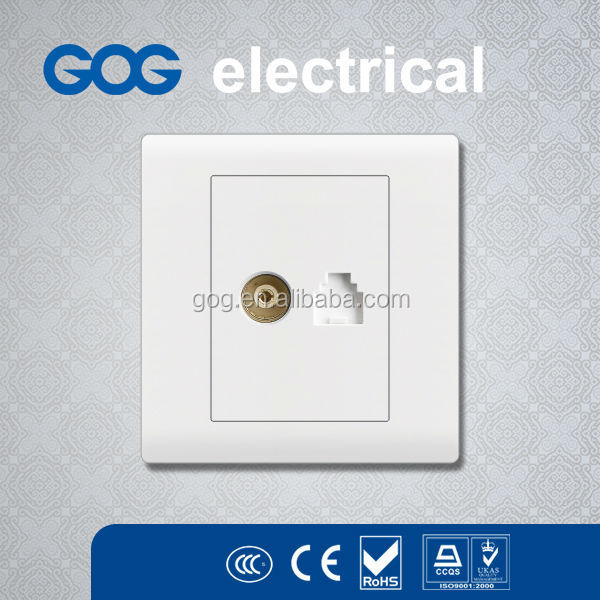 China factory RJ45 computer data universal socket outlet electrical wall network outlet.