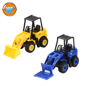 Yibao 3 pcs color mix Forklift engineering mini pull back sets diecast car toy