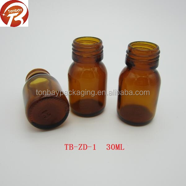 Competitive price DIN28 amber glass bottle for maple syrup