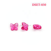 Transparent Butterfly Shape Three-dimensional Faceted Plastic Beads Acrylic Chunky Beads