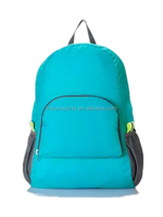 easy carry polyester foldable travel backpack with two layers