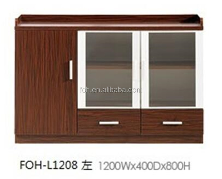 Cheap high quality MFC tea cabinet from Chinese furniture factory FOH-L1208
