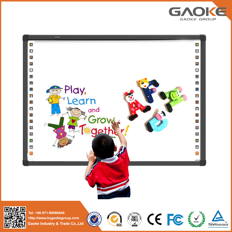 "Four user writing 85"" IWB mobile infrared electronic whiteboard for kids education system and smart classroom"