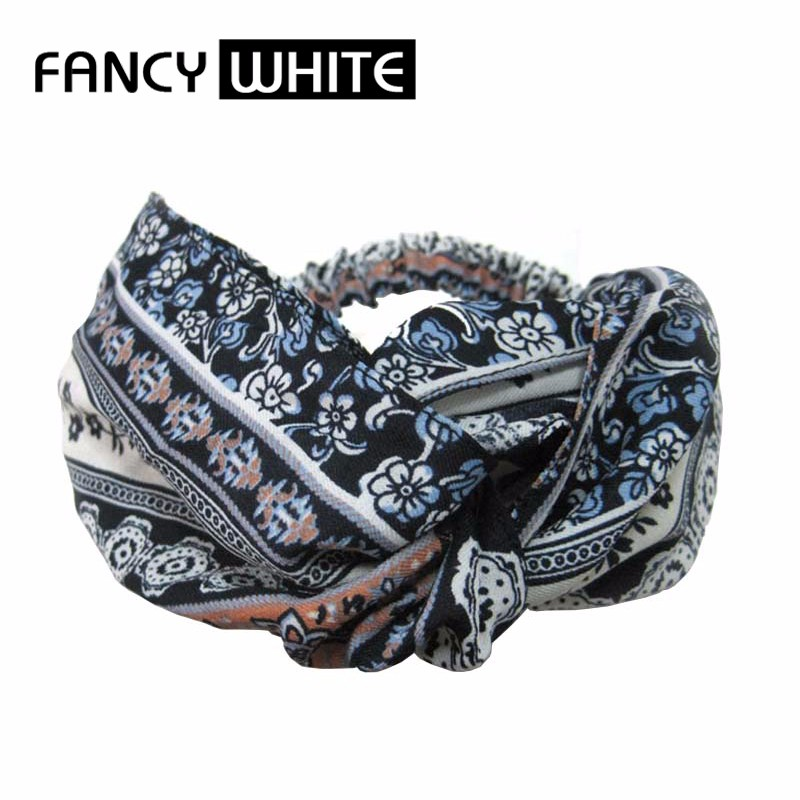 Yiwu custom elastic printd scrunchie style cloth decorative wholesale women hair accessories