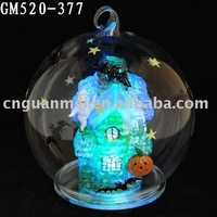 blown halloween hanging ball with LED light