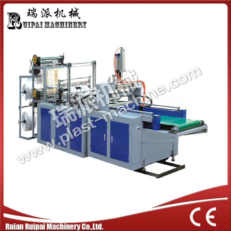 Full Automatic hot seal and cutting bag making machine