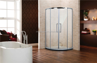 sunlight shower room,curved walk in shower room,straight sliding shower glass door