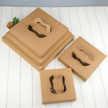 Custom made pizza corrugated box delivery with handle and pvc window