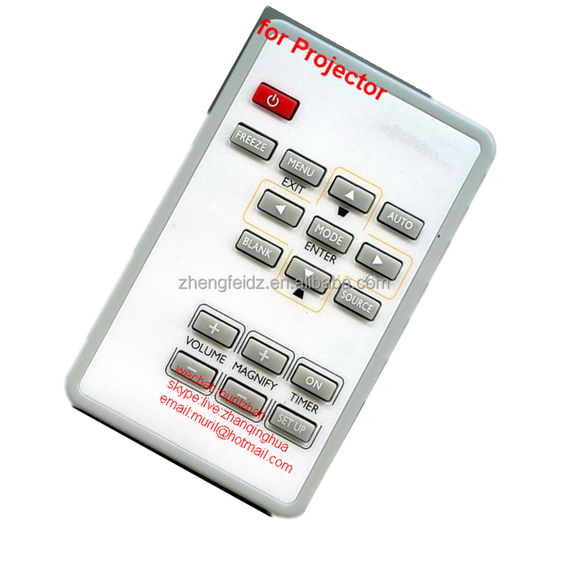 ZF White Mini 17 Buttons Universal IR Projector Remote Control for HITACHI Projector