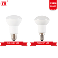New type led light bulbs r50 r63 3W 9W Plastic Aluminum ic drive