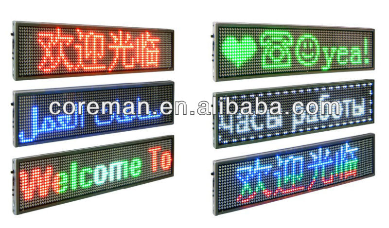 Shenzhen led low price usb,rs232,remoter,wireless programmable led sign/ led open sign