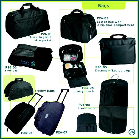 Corporate Gifts Singapore - Customised Trolley Bag, Document Bag, Laptop Bag, Travel Bag Toiletry Pouch, Shoe Bag