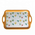 Factory Price Top Grade Melamine Serving Tray with Handle