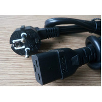 Europe power cord with schuko plug and C19 connector