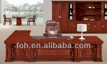 Dubai Office Furniture Luxury Executive Desk and Chair Sets (FOHA-1838)