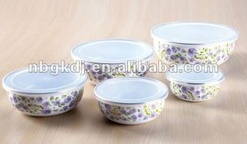 ice bowl sets with full design and PP lid