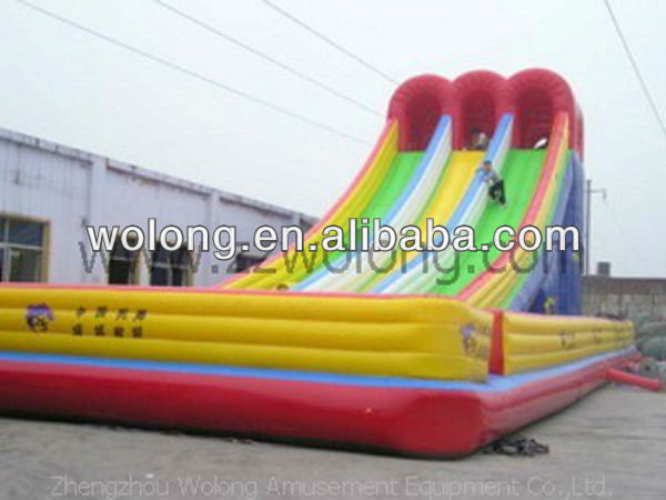 commercial slip and slide, titanic inflatable big fun slide