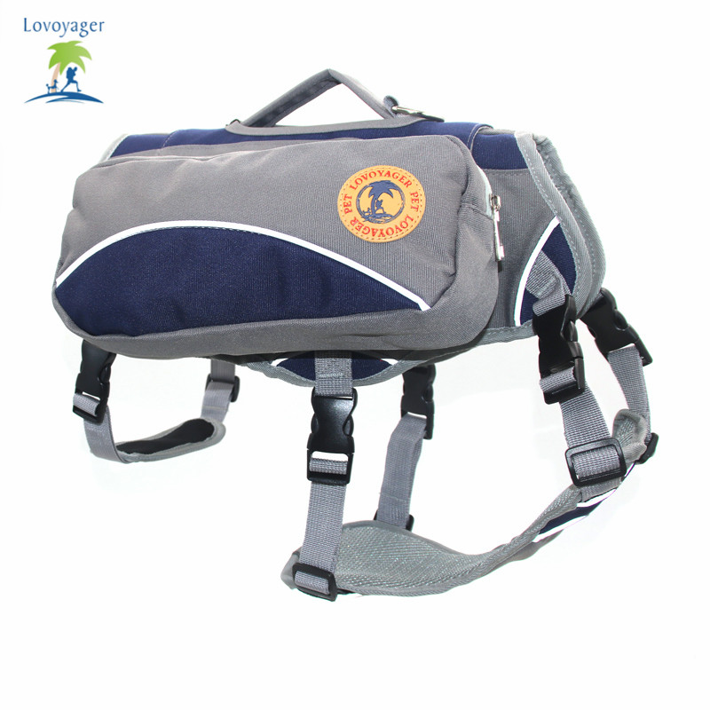 Saddle bag dog backpack harness