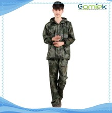 GMK-168 Waterproof Camouflage rain poncho military/army suit with lining