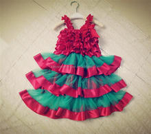 baby girl christmas baby dress pictures wholesale party dress for Xmas