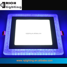 18W Round/Square Two Color 3 Ways Slim Blue Color changing Flat Led Ceiling Panel Light