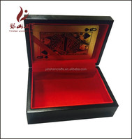 small wooden box for 999.9 gold playing cards