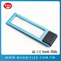 Wholesale card LED magnifying glass book light loupe magnifier