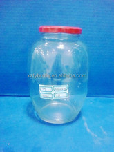800ml pickle glass jars with metal ids